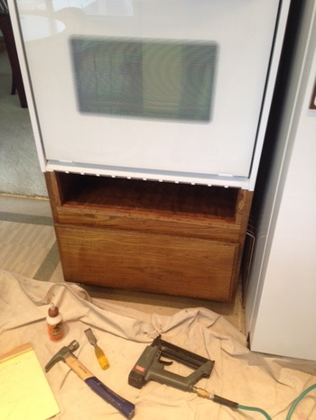 Kitchen Cabinet Modification