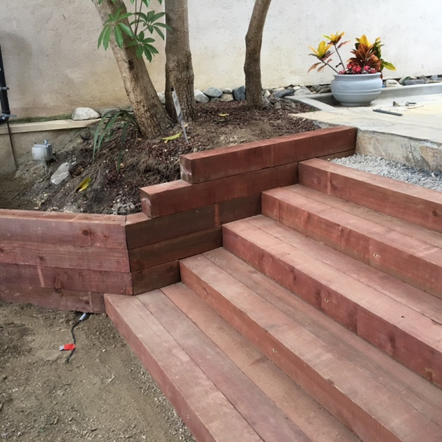 Landcape Steps And Retaining Walls